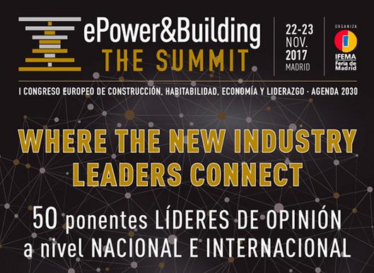No te pierdas el 'ePower&Building The Summit' los días 22 y 23 de Noviembre en Madrid